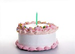 1-årskalas tårta