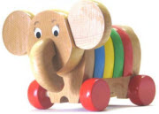 Träleksak elefant