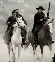 Cowboys som rider på High Chaparall