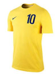 Zlatan Ibrahimovics matchtröja i svenska landslaget och tröja i Manchester United post image