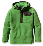 Grön fleecejacka